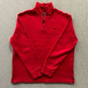 Polo Ralph Lauren Red Half Zip Sweater